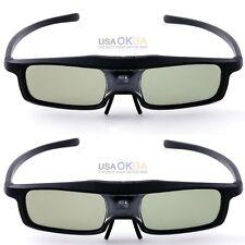 2PCS Ultralight 3D DLP Glasses For Optoma HD131Xe HD25e HD25lv EH500 Projector