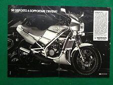 PY33 Pubblicità Advertising Clipping 24x35 cm (1985) MOTO HONDA NS 125 F