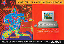 PUBLICITE ADVERTISING  1992    ATARI  520ST  (2 pages)