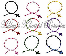 One Knotted Rosary Bracelet - Thin Material