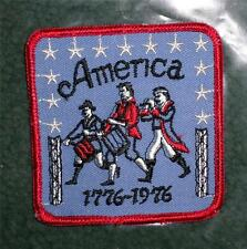 "6 NOS Patriotic American Fife & Drum Bicentennial Patches 3 1/4""  Iron On  HL"