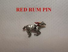 NEW RED RUM UK HAND PAINTED HORSE RACING JOCKEY SILKS PIN GRAND NATIONAL