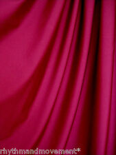 Dance Costume Lycra Fabric Burgundy Maroon Shiny Nylon 50cm - 150cm wide