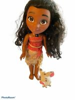 "Disney Princess Animation Toddler Moana Talking Singing 14"" Lights up Doll  Pig"