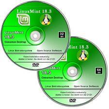 Betriebssystem Linux Mint 18.3 Cinnamon,   ✔ 2er DVD Set - 32 + 64 bit System