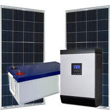 Kit fotovoltaico con accumulo 300Wp con inverter ibrido 1000W UPS