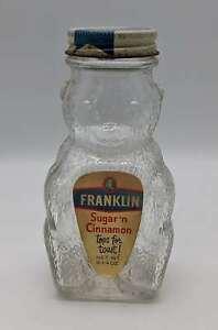 Vintage Franklin Sugar 'n Cinnamon Glass Bear Bottle Bank