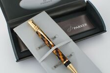 NEW in BOX, Parker Duofold Amber Check Special Edition Ballpoint Pen.