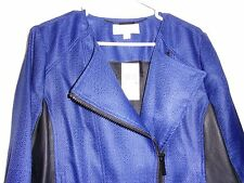 NEW NWT MICHAEL KORS JACKET WOMENS SZ 14 DARK BLUE BLACK ZIPPERED JACKET