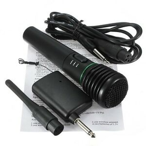 6.35mm Handheld Multimedia Wireless Microphone Mic Receiver System Undirectional