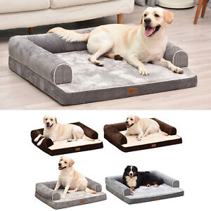 AcornPets® B14 Premium 10cm Memory Foam M/L/XL Dog Bed Pet Sofa Fleece Mattress