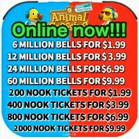 🔥Animal Crossing:New Horizons Bells Nook Miles Tickets Fish Bait Fast Delivery