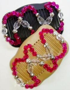 """Double Magic Hair Combs 4x3.5"""", African Butterfly Style, Quality, US SELLER MS98"""