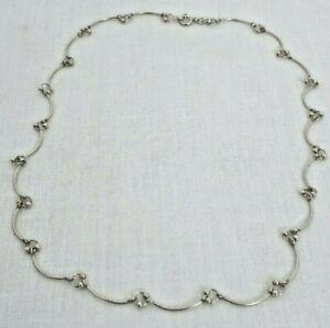 "Silver Decorative Necklace 16"""