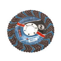 "5"" 125mm Flap Sanding Disc Grooves Grinding Wheel Abrasive Tool for Metal 2Pcs"