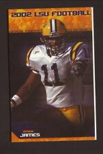 Louisiana State Tigers--Bradie James--2002 Football Pocket Schedule