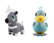 NEW Official Set of 2 Pokemon Center Japan Stuffed Plush Dolls Blitzle/ Ducklett