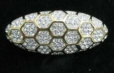 Retired Swarovski Clear Honeycomb Pin Swan Signed Jewelers Collection Brooch