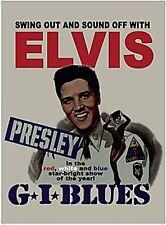 Petite Plaque Métal 'Elvis G.I. Blues' (og 2015)