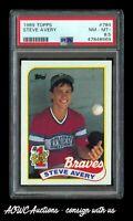 1989 Topps #784 - Steve Avery RC (Atlanta Braves) - PSA NM-MT+ 8.5