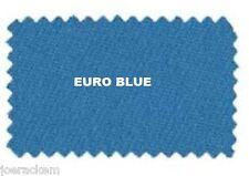 VELOCITY PRO - 8' BED CLOTH & RAILS - Pool Table Cloth - Euro Blue