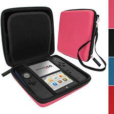 Rose EVA Étui Housse Pochette Case Cover Rigide avec Poignée pour Nintendo 2DS