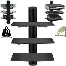 1 2 3 Tier Black Floating DVD Player Glass Shelf Game Console Sky, PS4 PREBUILT