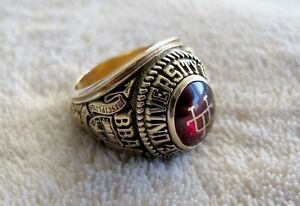 University Of Texas Class of 1954 Ring 10K Yellow Gold  26.5 Total Grams Size 11