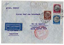 EUROPA-SUDAMERIKA , 1937 ,  DEUTSCHE LUFTPOST , GERMANIA/BRASILE .