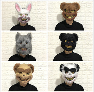 Stitches Mask Zombie Animal Light Up Costume Party Purge Halloween Cosplay Masks