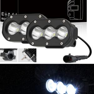 2PCS Motorcycle Front Bumper LED Driving Fog Spot Light Spotlight Reversing Lamp