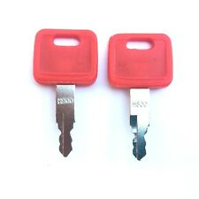 (2) John Deere Hitachi Excavator Ignition Keys fits Case Dozer, New Holland H800