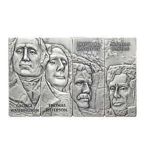Mount Rushmore Coins 80th Anniversary Collectible 4-Piece Set 1oz Silver
