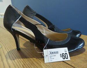 Target Ladies Black Heeled Pump Shoes Work Business Cocktail Design | Size 10 41