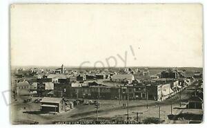 RPPC Bridseye View of BEACH ND North Dakota Real Photo Postcard