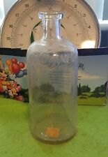 Vintage Glass Bottle Otis Clapp Son Clear Providence Boston