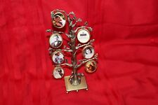 New Vintage Gold Metal Tabletop Standing 7 Picture Tree Photo Frame