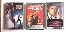 James Bond Movie Soundtrack Cassette Set of 3-License Kill/Living Daylights +