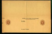 GB QV 1892 privately printed 1d brown postal stationery wrapper for Board Stamps