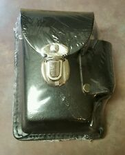 Genuine Leather Black Snap Cigarette Case Up To 100's Made In Usa With Belt Loop
