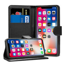 For Apple iPhone X XS XR 4 5 5S SE 6 6S 7 8 10 Leather Flip Wallet Case Cover