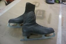 Mens Figure Ice Skates Size12 Used Vintage  Black