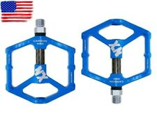 Magnesium alloy Road MTB XC Bike Pedals flat Pedal Carbon tube 3 bearings Blue