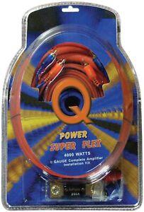 Qpower 0GAMPKITSFLEX 0 Gauge Amp Kit Super Flex