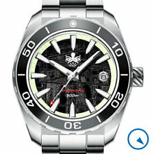 PHOIBOS Automatic Dive Watch, D-Dome AR Sapphire Crystal, Meteorite Dial #PY024E