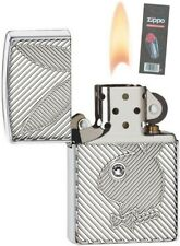 Zippo 28963 Playboy Armor Chrome NEW Lighter + FLINT PACK