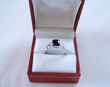MENS- 1.10 Ct. Onyx Solitaire  Sterling Silver Ring
