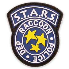 3D Rubber STARS Raccoon Police Dep Morale Airsoft Biker Military Patch Blue NEW