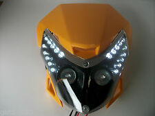 Yellow Motorcycle Streetfighter Enduro Headlight Alien Led Pods Gsxr Head Light