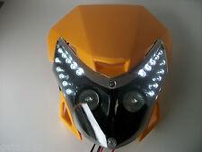 Amarillo Motocicleta Streetfighter Enduro Faro Alien LED luz de cabeza vainas GSXR